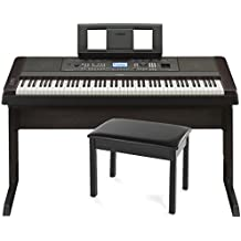 Yamaha DGX-650B 88-Key Weighted Digital Piano w/ Stand and Bench