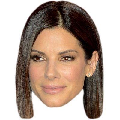 Sandra Bullock Celebrity Mask, Cardboard Face and Fancy Dress Mask (Fancy Face Masks)