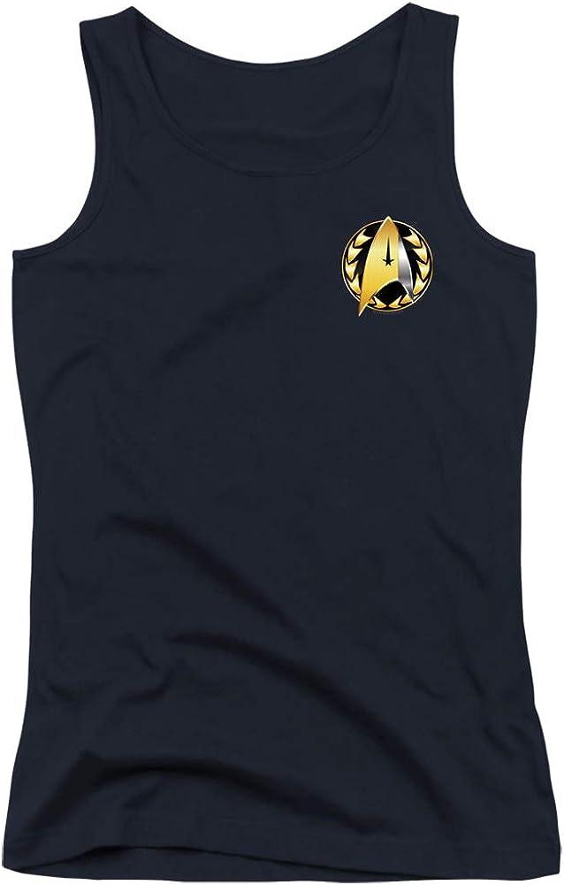 A&E Designs Star Trek Juniors Tank Top Discovery Admiral Badge Navy Tanktop