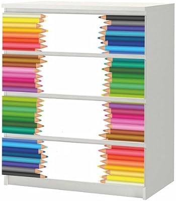 Adhesivo para IKEA Malm cajonera de madera con 80 x 100 cm, diseño ...