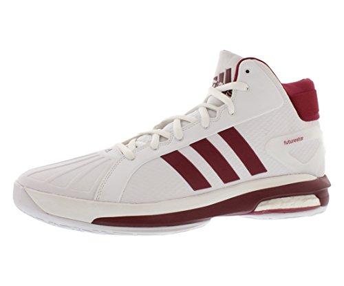 Adidas Sm Futurestar Boost Basket Mens Skor Storlek Vit / Vinröd