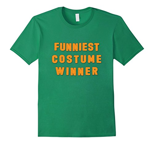 Mens Funniest Costume Winner Halloween Contest Shirt 3XL Kelly Green