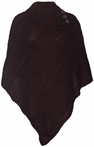 Purple NEUF Hanger FEMMES bouton long Poncho tricot femme rqr1S4U