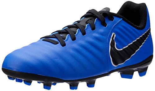 Nike - JR Legend 7 Academy FG - AO2291400, Racer Blue/Metallic Silver/Black, 6 Big Kid