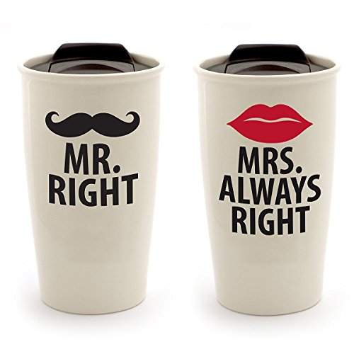Mr and Mrs Right Travel Tumbler Set - Personalize - Mr Right Mrs Always Right Tumbler