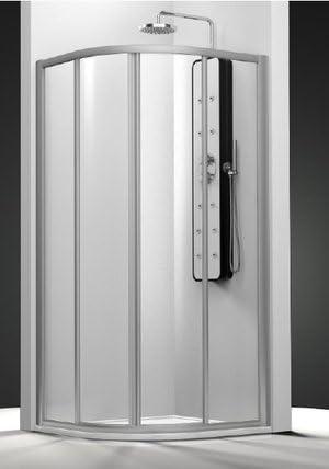 Mampara de ducha Serie Cu 1/4 Círculo con 2 paneles fijas y dos ...