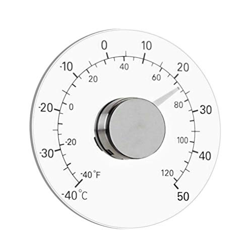 GuDoQi Outdoor Window Thermometer Stick on Circular Window Temperature Meter for Outdoor Car (Thermometer Window)
