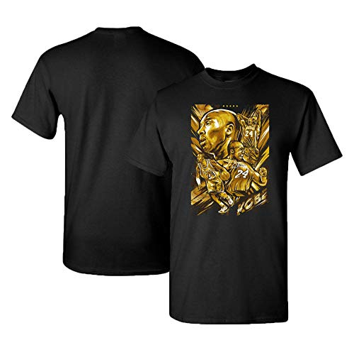 (Finitee Kobe Heart of a Champion T-Shirt. Remember The Great 24 who Played The Games. Black)