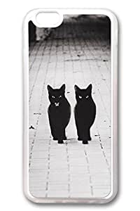 iPhone 6 Cases, Personalized Protective Case for New iPhone 6 Soft Clear Edge Two Black Cats