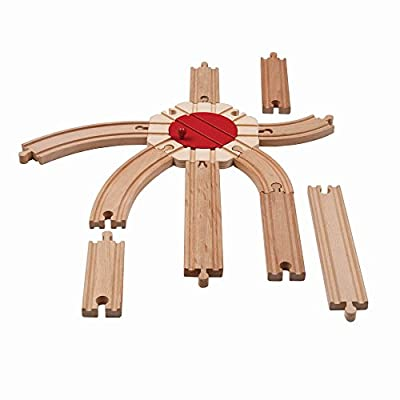 Maison Joseph Battat - All Aboard Train Track Pack - 11 Pieces: Toys & Games