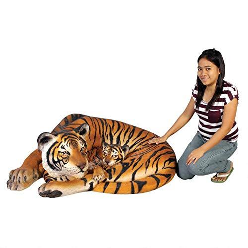 - Design Toscano Life Size Resting Bengal Tigress and Cub Statue