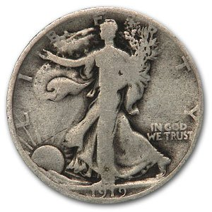 1919 D Walking Liberty Half Dollar Good Half Dollar Good