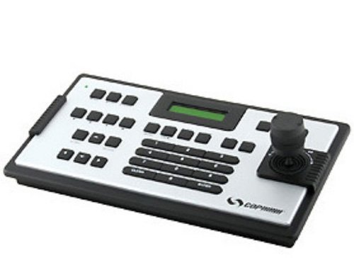Cop Security 15-AU50H 3-Axis PTZ Joystick Keyboard Controller (Silver and Black)