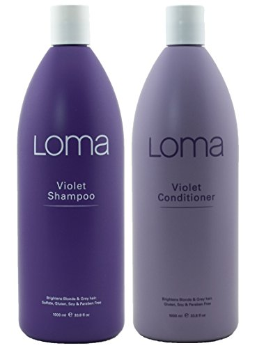 Loma Hair Care Violet Champú Violeta Acondicionador Duo, 33 oz.