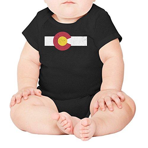 Artisfive Distressed Colorado Flag Unisex Baby Onesies Infant ()
