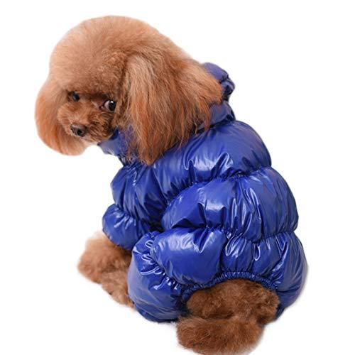 Alfie Pet by Petoga Couture - Michael Puffed Coat - Color: Blue, Size: Medium