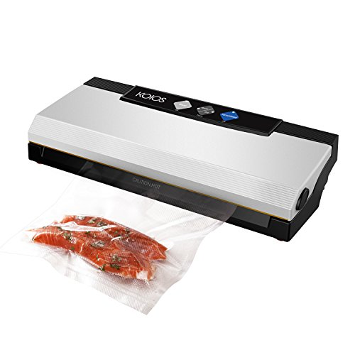 Vacuum Sealer,KOIOS 4-in-1 Automatic Food Saver with Cutter ,Vacuum Tube & Sous Vide Vacuum Sealing Bags , Vacuum Packing Machine for Dry&Moist Food (Vacuum Package Machine)