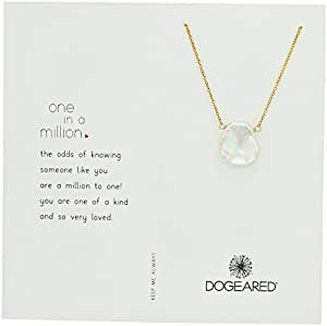 "Dogeared Reminder One In A Million, Lrg Keshi Pearl Gold Chain Necklace, 18"" + 2.2"" Extender"