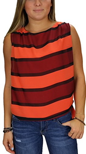 Miss Me Couture MMCT2593 Coral Tank with Tie Waist (x-Small)