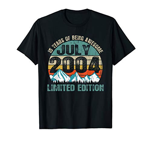 July 2004 Shirt Limited Edition 15 Years 15th Birthday Gift
