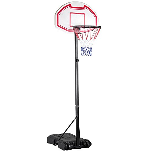Yaheetech 4.9-6.9ft Portable Height Adjustable Basketball Hoop System Stand for Kids Junior Youth Indoor Outdoor W/Wheels, 29 Inch Backboard
