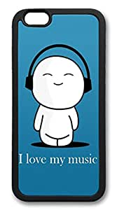 iphone 6 plus 5.5inch Case iphone 6 plus 5.5inch Cases I Love My Music TPU Rubber Soft Case Back Cover for iphone 6 plus 5.5inch black