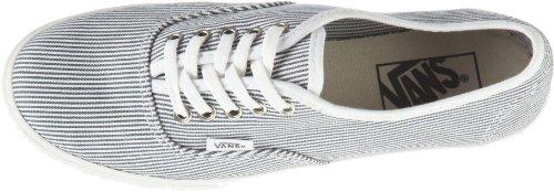 Vans Authentic Lo Pro Menns Størrelse 9 Skoen Vevde Striper Blå Og Helt Hvitt Trener