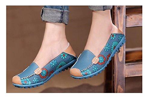 Altijd Mooie Dames Comfortabele Rijschoenen Slip Op Boot Zwangere Vrouwen Schoenen Blauw