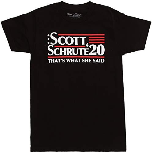 The Office Scott Schrute 2020 Campaign T-Shirt - Black (XX-Large)