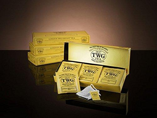 TWG Singapore - The Finest Teas of the World - LONDON BREAKFAST - 15 sachets de thé de pur coton cousu á main