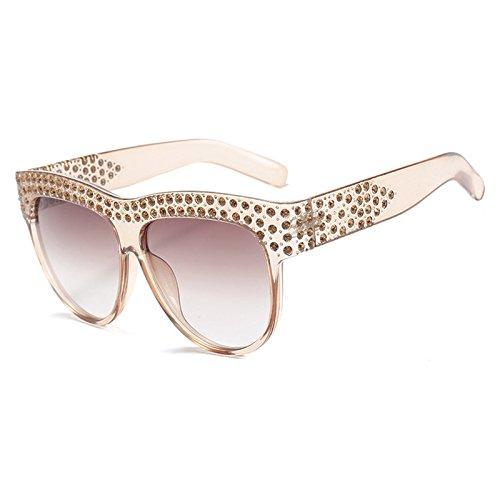 B de Gafas Sol Tonos de Sobredimensionado Marca Top Flat Lujo E Mujer Burenqi Designer Sol de Diamond Vintage Gafas Aviador Gafas Señoras 7YwAqP1O