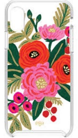 Rifle Paper Co. Valentine Floral Case - iPhone X/XS - Clear/Multi-Colors - in Retail Packaging