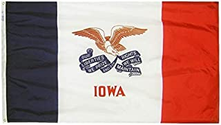 product image for Annin Flagmakers Model 141780 Iowa Flag Nylon SolarGuard NYL-Glo, 5x8 ft, 100% Made in USA to Official State Design Specifications