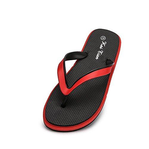 infradito Pantofola da infradito EU Sandali con spiaggia Black 2018 Dimensione shoes Black Color Uomo per uomo Xujw Red classico Blue da 45 wqOCfvxXYn