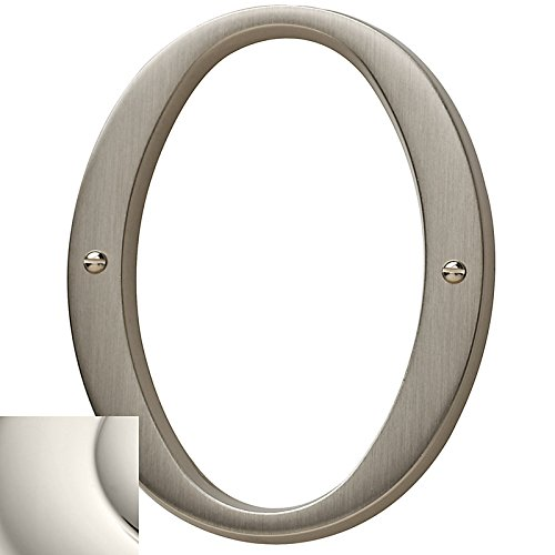 Baldwin 90670140 70# 0 House Number, Bright Nickel