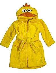 Kreative Kids - Little Boys Duck Hooded Bathrobe, Yellow 32941-onesize