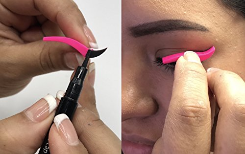 Wing Stamp-Dramatic, Authentic, Cruelty Free, Easy to Use for Winged Eyeliner, Use with non alcohol based liquid liner.