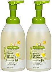 BabyGanics Foamin' Fun Foaming Shampoo & Body Wash - Fragrance Free - 18.6 oz, Pack of 2