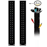 "Cable Cord Organizer, 40"" Flexible Neoprene Cable Wrap With Hole for PC/ TV/ Office/ Phones/ Speakers Cable Management Sleeve ( Pack of 2)"