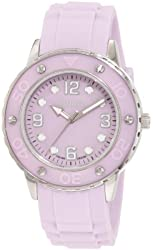 Haurex Italy Women's 1D371DLL Vivace Lilac Dial Rubber Date Watch