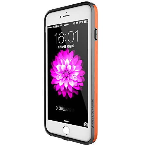 (HS-TOP  ® NILLKIN Case Cover Frame Conque, Rand Slim Armor Hülle für APPLE iPhone 6 Plus (5,5 Zoll), Orange