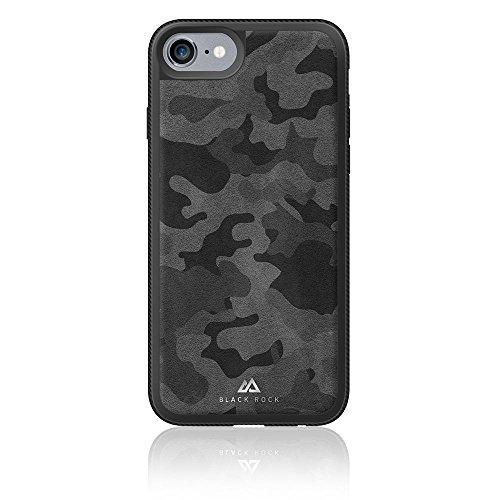 Black Rock Matte Leder Bezug für Apple iPhone 7–Schwarz Camo