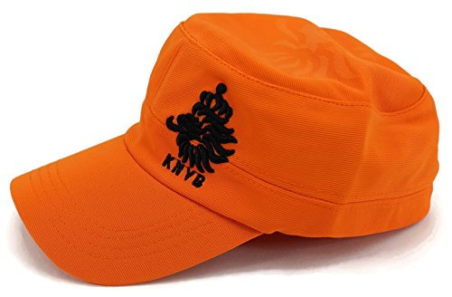 Holland National Soccer Team (High End Hats World Soccer / Football Team Military Hat Collection Embroidered Flexfit Army Style Cap, Netherlands National Football Team, Orange)