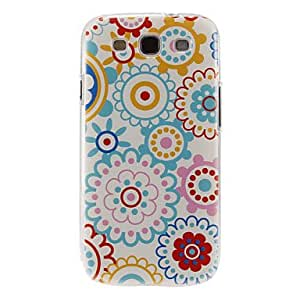 Multi-Petals Flowers Pattern Plastic Protective Hard Back Case Cover for Galaxy S3 I9300