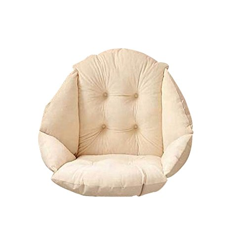 TFTEAM Shell Plush Dining Upholstery Cushion, Adult Rocking Chair Cushion High Back Anti-Slip Pads Indoor/Outdoor Garden Courtyard Home Kitchen Office Sofa Chair Cushion size Four holes (Beige)