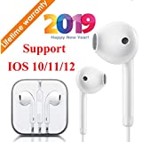 Headphones Earphones in-Ear Earbuds with Microphone and Remote Control, Compatible with iPhone X/XS Max/XR/X/8/8 Plus/7/7 Plus Plug and Play