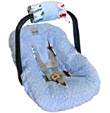 Itzy Ritzy Ritzy Wrap Infant Car Seat Handle Cushion, Rodeo Drive