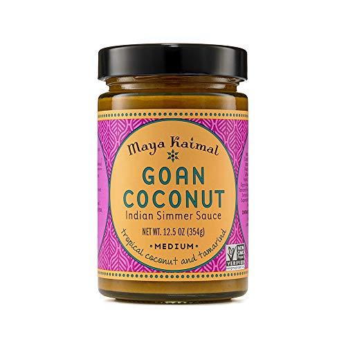 Maya Kaimal Goan Coconut Indian Simmer Sauce, 12.5 Ounce, Medium