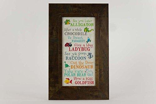 See You Later Alligator After Awhile Crocodile Children's Framed Art Picture (Kid Art Alligator)