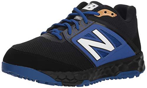 New Balance Men's 3000v4 Turf Baseball Shoe, Black/Blue, 11 D - Turf Coaches Shoes